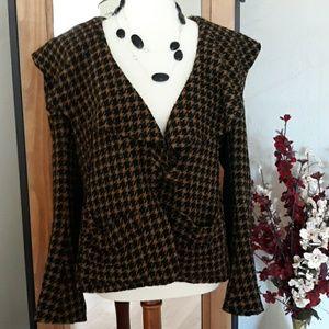 Gorgeous Black & Brown Laine-wool Blazer